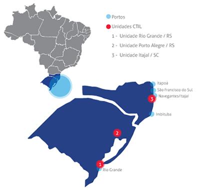 Mapa Áreas de Negócios CTIL
